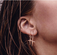 Load image into Gallery viewer, MIA MINI CROSS EARRING