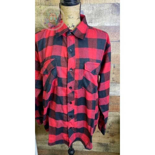 Buffalo Plaid Flannel Red/Black Unisex - Shirts