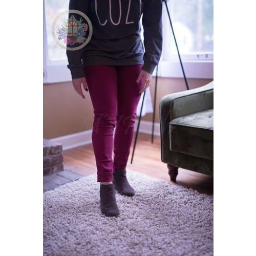 Denim Jeans - Small - WINE Colored - Jeans