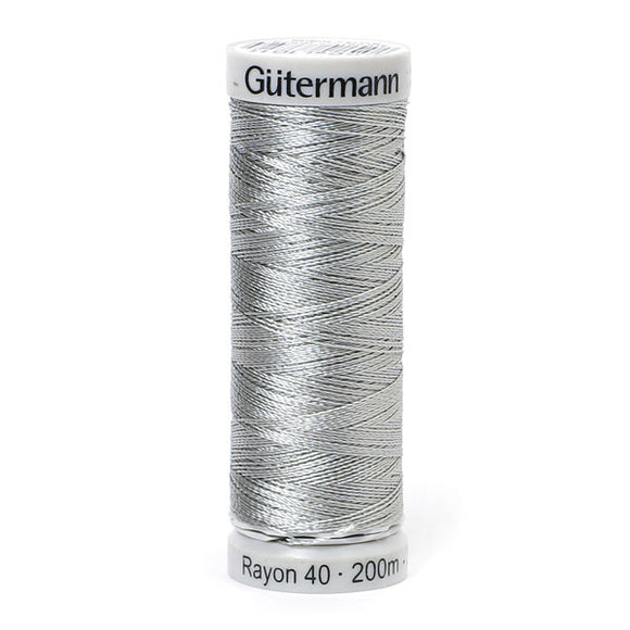 Gutermann Rayon 40 Thread Light Grey