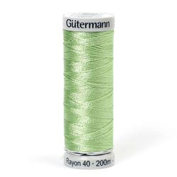 Gutermann Rayon 40 Thread Light Green