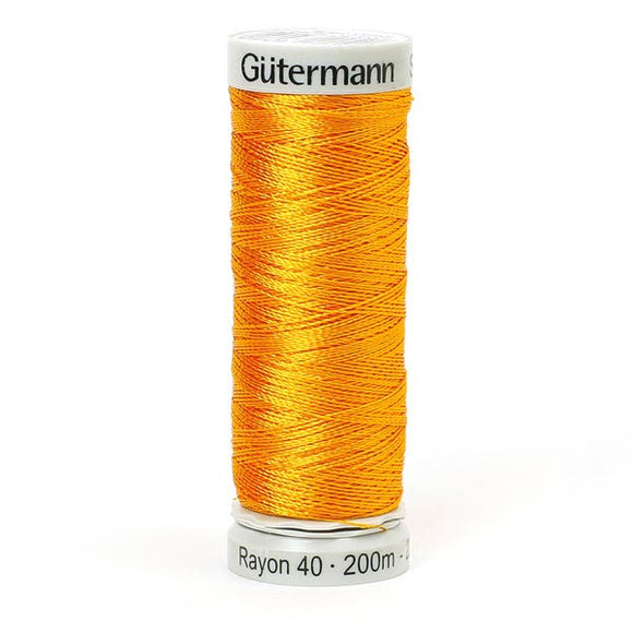 Gutermann Rayon 40 Thread Orange