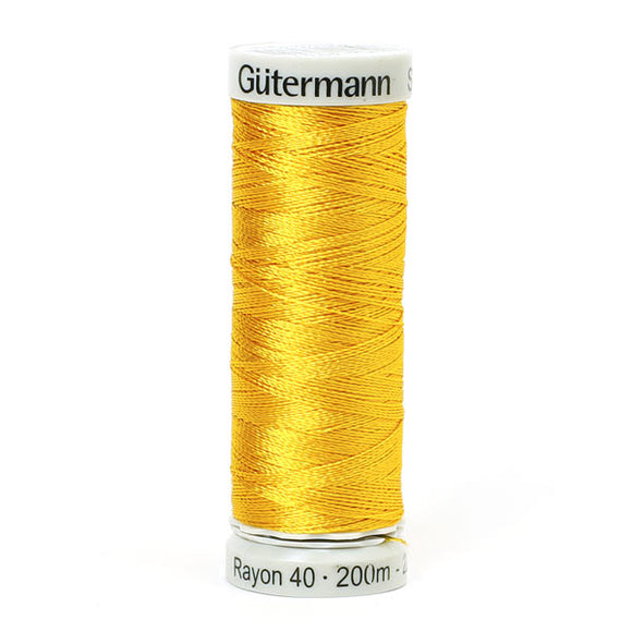 Gutermann Rayon 40 Thread Yellow