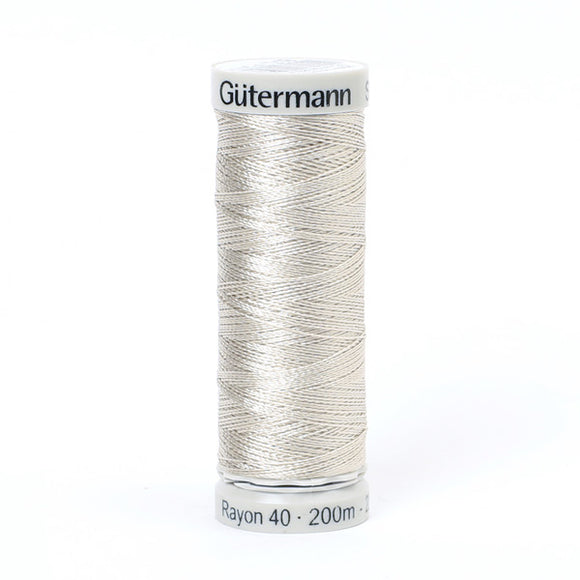 Gutermann Rayon 40 Thread Silver Grey