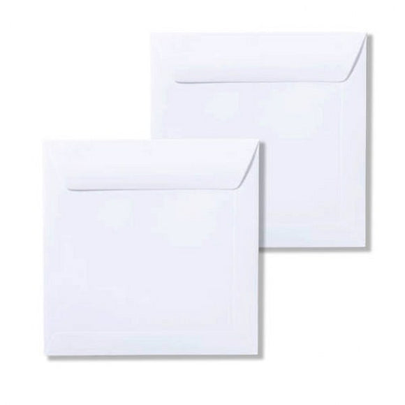 14cm square white envelopes