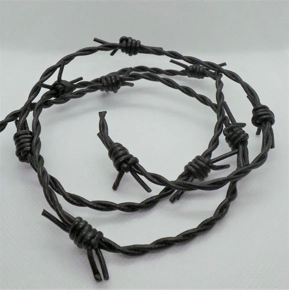 Barbed Wire Leather Cord