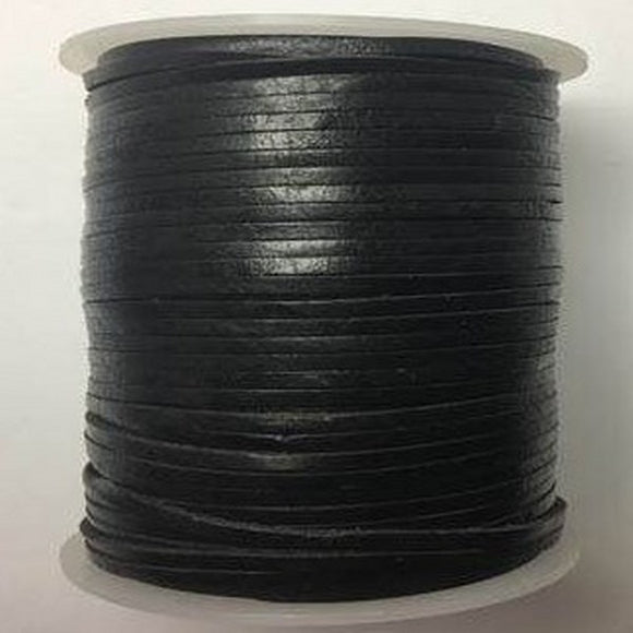 2mm Flat Leather Cord