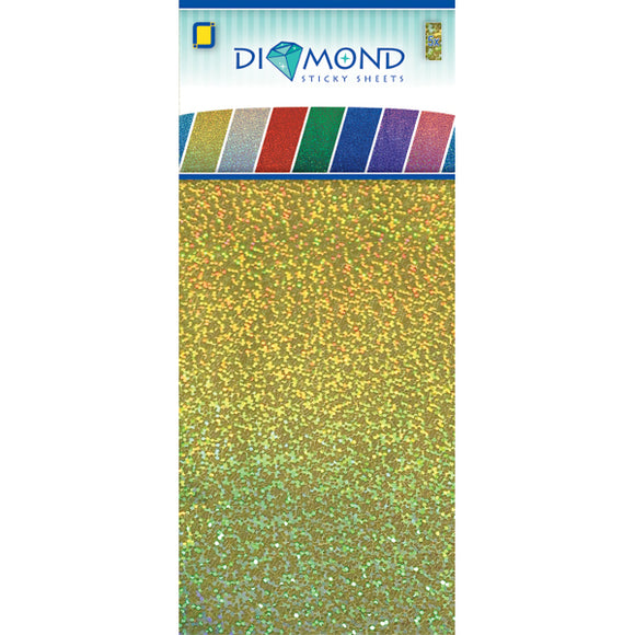 Diamond Effect Smooth Adhesive Sheets Gold