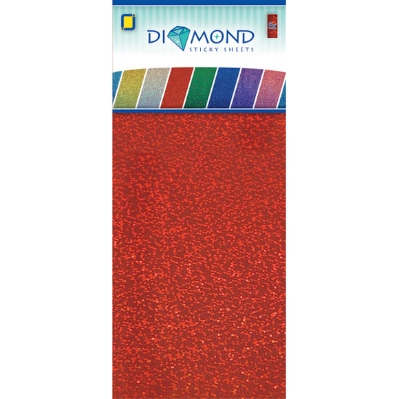 Diamond Effect Smooth Adhesive Sheets Red