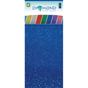 Diamond Effect Smooth Adhesive Sheets Blue