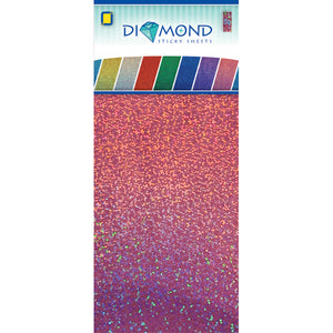 Diamond Effect Smooth Adhesive Sheets Pink