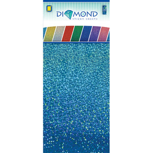 Diamond Effect Smooth Adhesive Sheets Turquoise