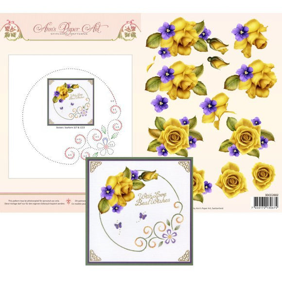 Ann's 3D Pattern Sheet 2 - Yellow Roses