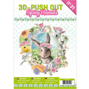 Spring Animals Decoupage & Backing Paper Book