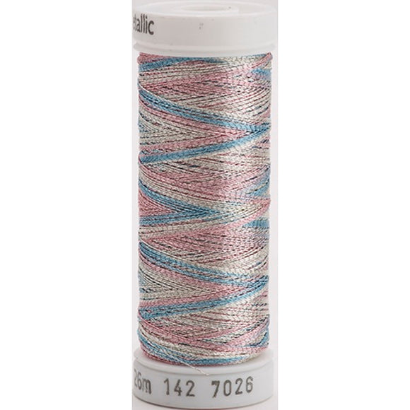 Gutermann Sulky Metallic Thread Silver/Pink/Blue