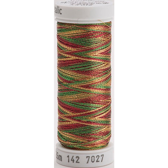 Gutermann Sulky Metallic Thread Green/Red/Gold