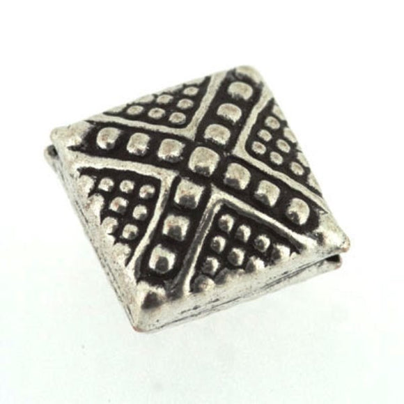 Cross Pattern Square Bead 11 mm Pack of 5