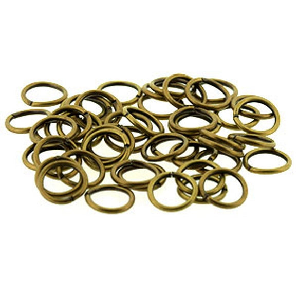 8mm Medium Duty Jump Rings Antique Gold Plate pack of 50