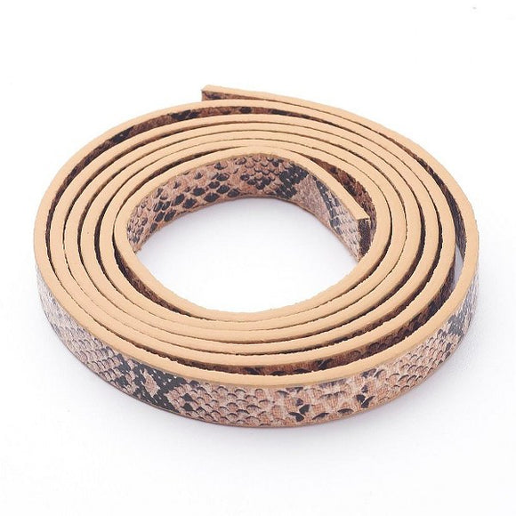 Imitation Snake Skin Faux Leather Cord