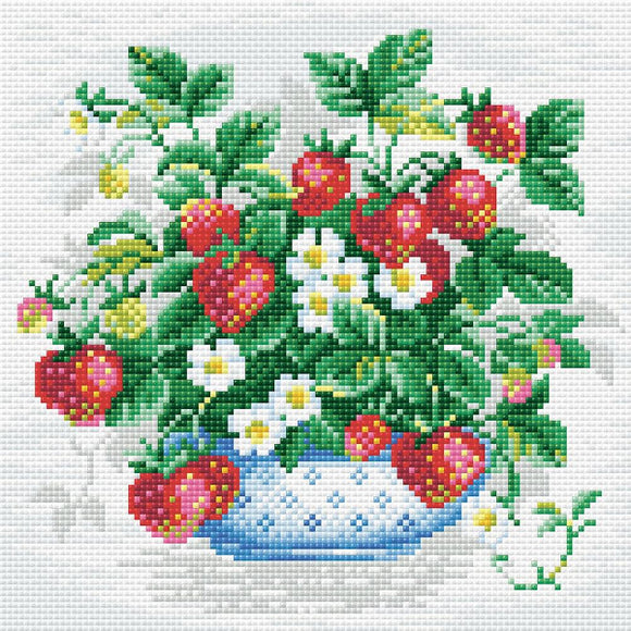 Basket of Strawberries Diamond Painting Mosaic Kit from Riolis