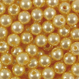 8mm Round Acrylic Pearl Beads Pack of 50