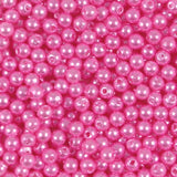 4mm Round Acrylic Pearl Beads Pack of 50