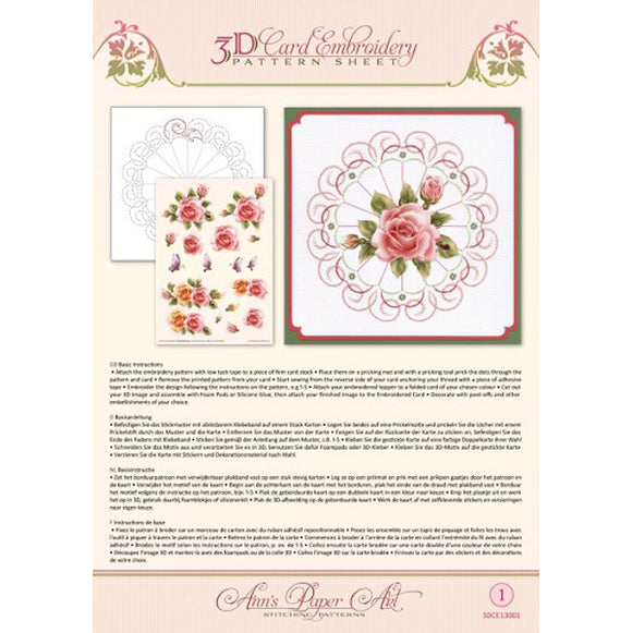 Ann's 3D Pattern Sheet 01 Rose Glow