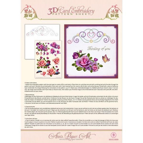 Ann's 3D Pattern Sheet 09 Rose Romantica
