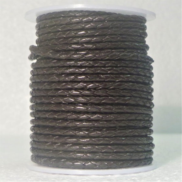 Braided Leather Cord 5mm