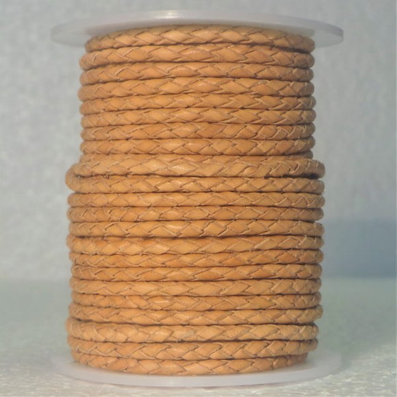 Braided Leather Cord 4mm