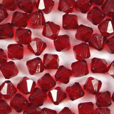 8mm Faceted Acrylic Bicone Beads Pack of 50
