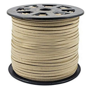 3mm Flat Faux Suede Cord