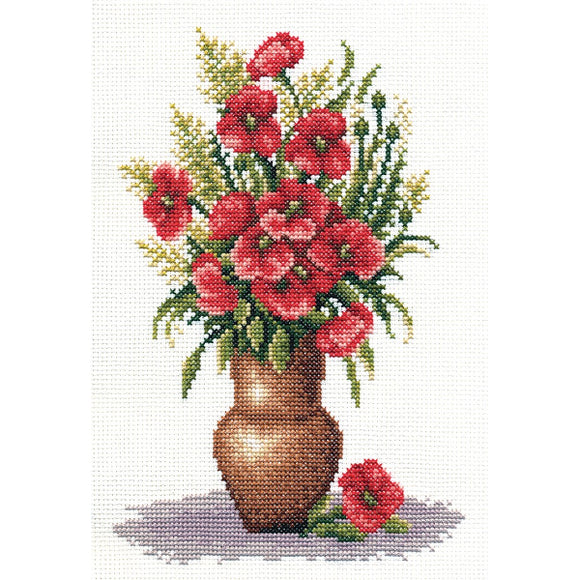 Poppy Bunch Counted Cross Stitch Kit