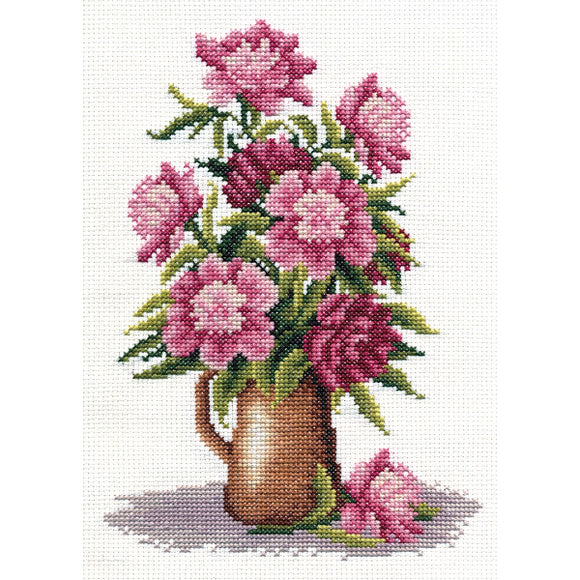 Peony Bunch Counted Cross Stitch Kit