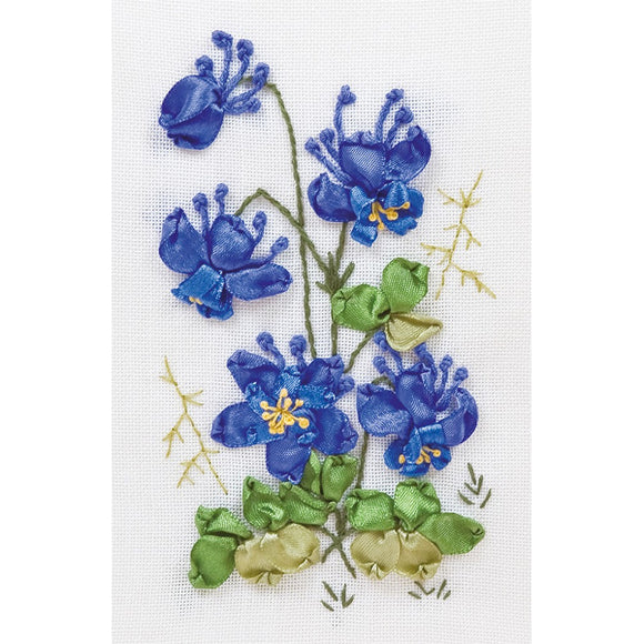 Columbine Ribbon Embroidery Kit from Panna