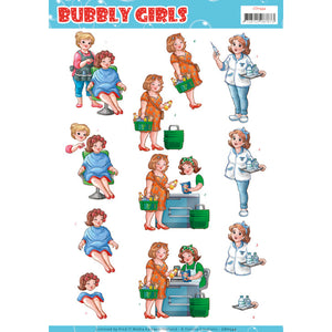 Bubbly Girls - Professions Decoupage Sheet