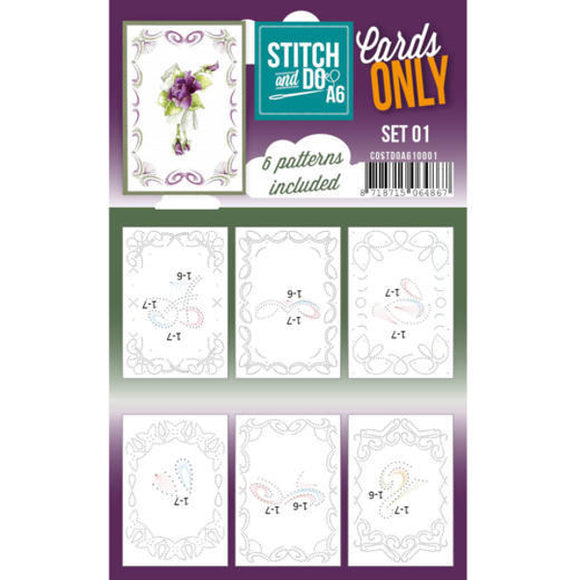 Stitch & Do Card Only A6 Set 01