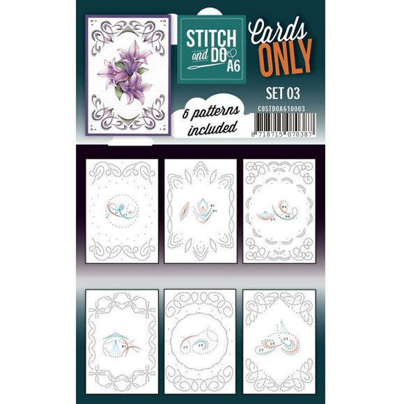 Stitch & Do Card Only A6 Set 03