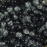 4mm Crackle Glass Beads Pack of 50