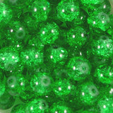 10mm Crackle Glass Beads Pack of 50