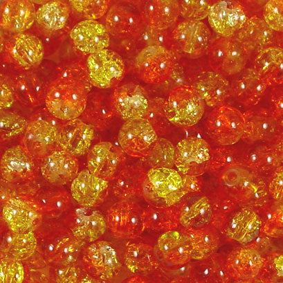 6mm Crackle Glass Beads Pack of 50