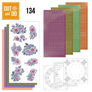 Dot & Do Kit 134 Purple Flowers