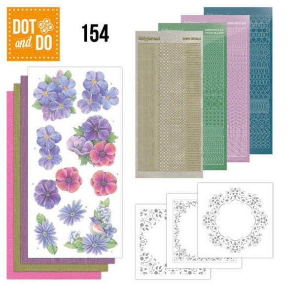 Dot & Do Kit 154 Pink Flowers