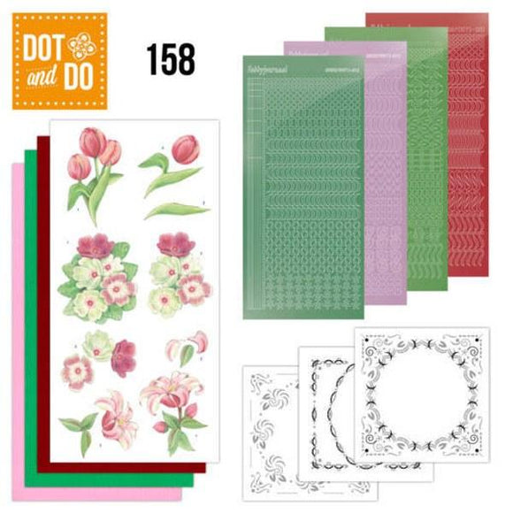 Dot & Do Kit 158 Red Flowers