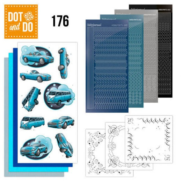Dot & Do Kit 176 Cars in Blue
