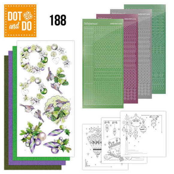 Dot & Do Kit 188 Purple Christmas Baubles