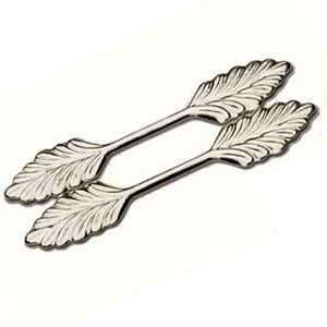 Leaf Bail 36mm Gold or Silver Plate