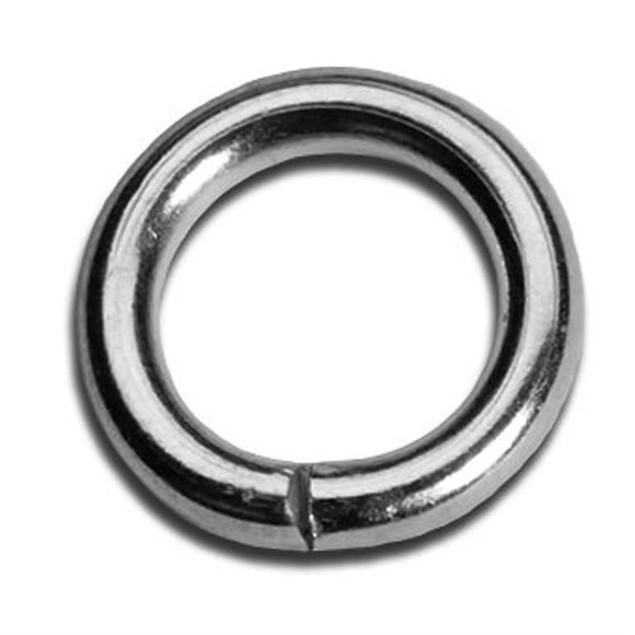 6mm Heavy Duty Jump Rings Gold or Silver Plate