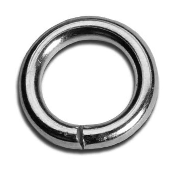 8mm Heavy Duty Jump Rings Gold or Silver Plate