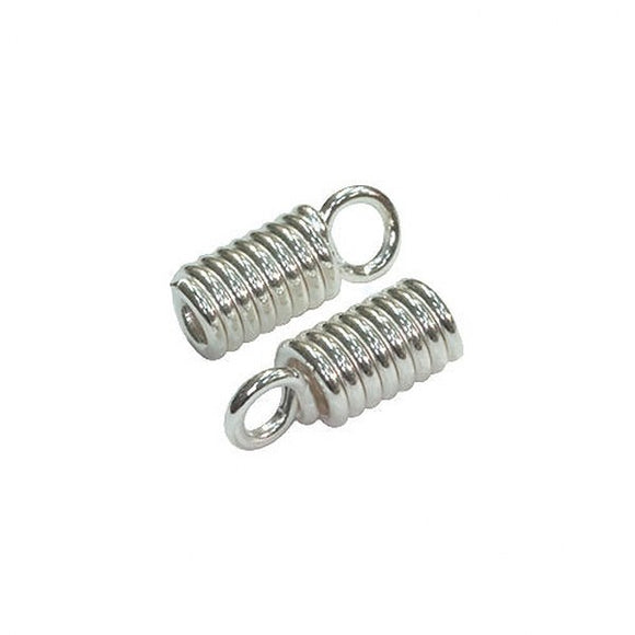Coil Crimps 3mm Gold or Silver Plate pack of 20